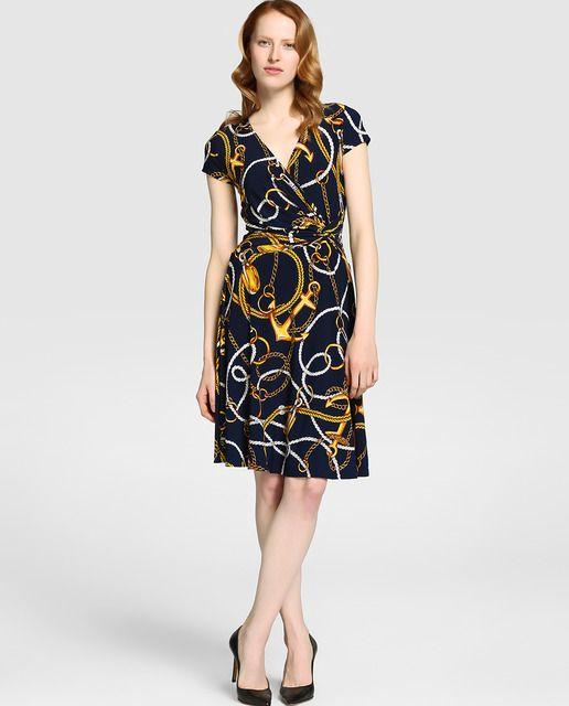 a70dade09 Vestido de mujer Lauren Ralph Lauren con estampado de cadenas ...