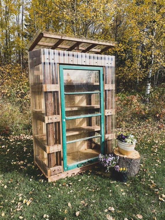 DIY 2x4 Mini Lean to Style Greenhouse