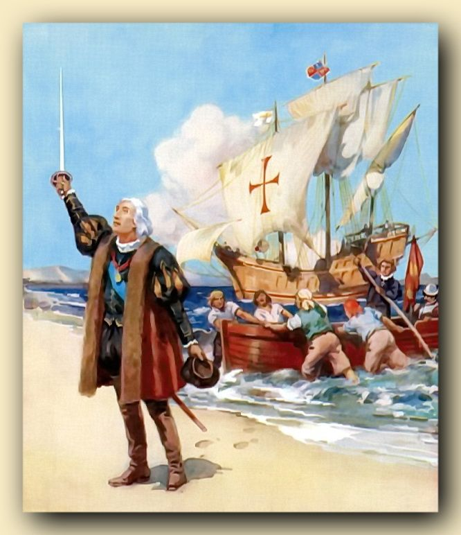 1492 Christopher Columbus 1451 1506 Of Genoa Italy Discovered The New World Of The Americas On An Expedition Christopher Columbus Poetic Forms Columbus