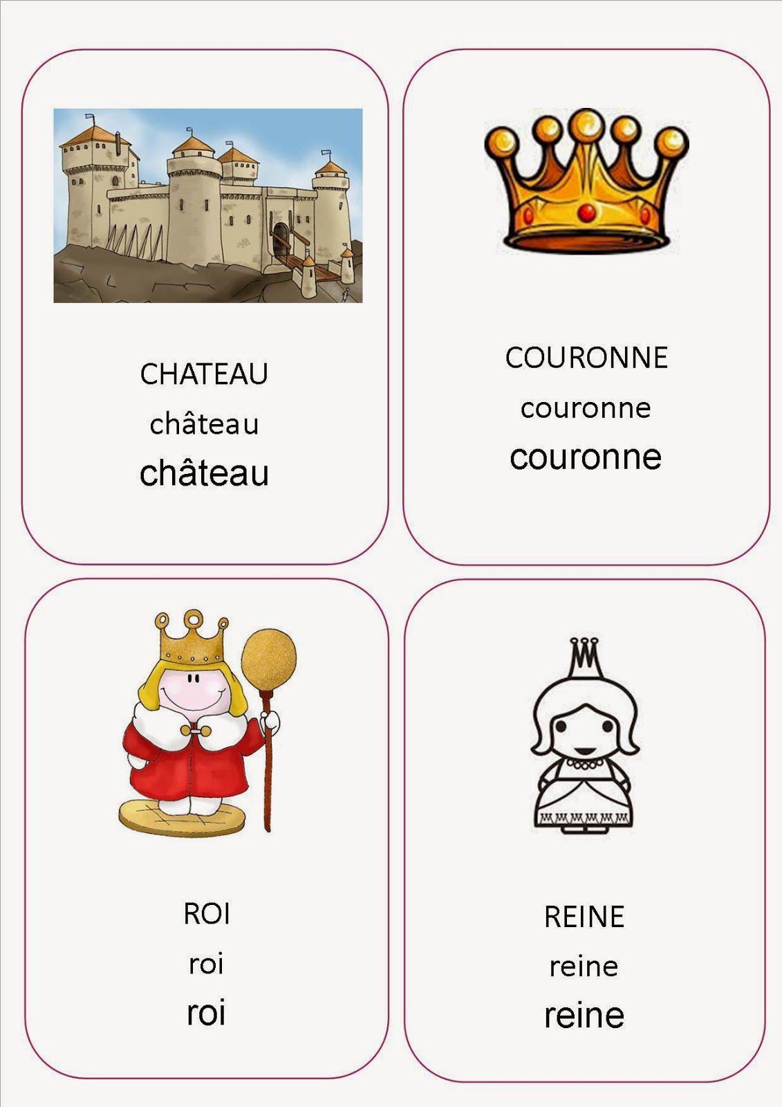 Imagier projet roi reine et ch teau ma petite for Pinterest fr