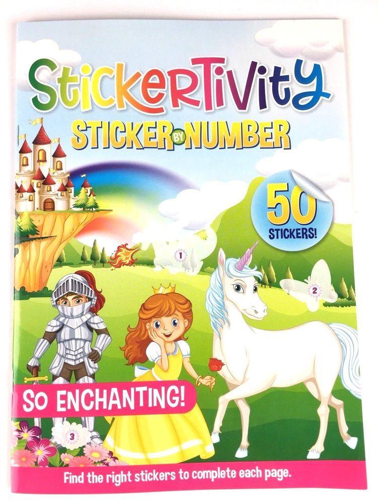Details About Princess Castle Knight Unicorn Sticker By