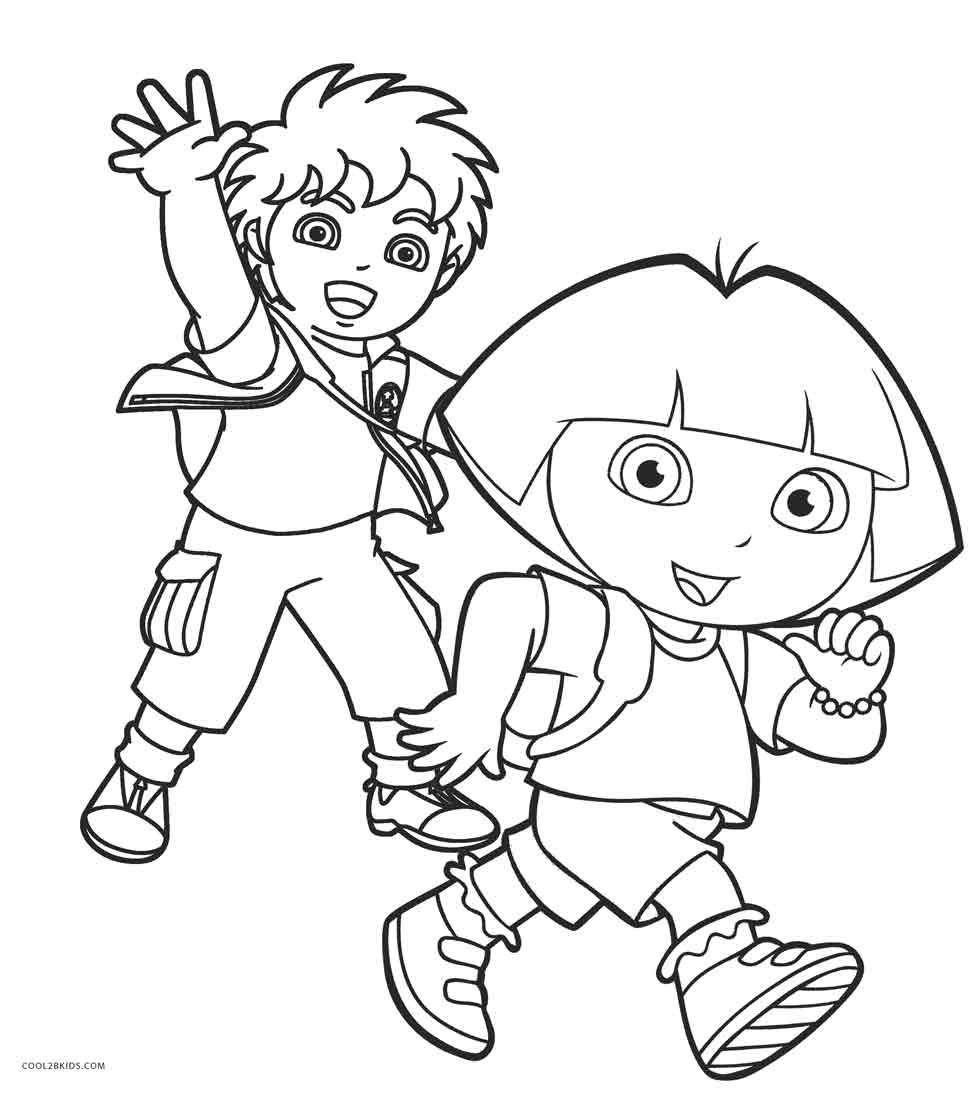 Dora And Diego Coloring Pages Printable Coloring Pages Allow Kids To Accompany Their Favorite Characters Dora Coloring Minion Coloring Pages Coloring Pages