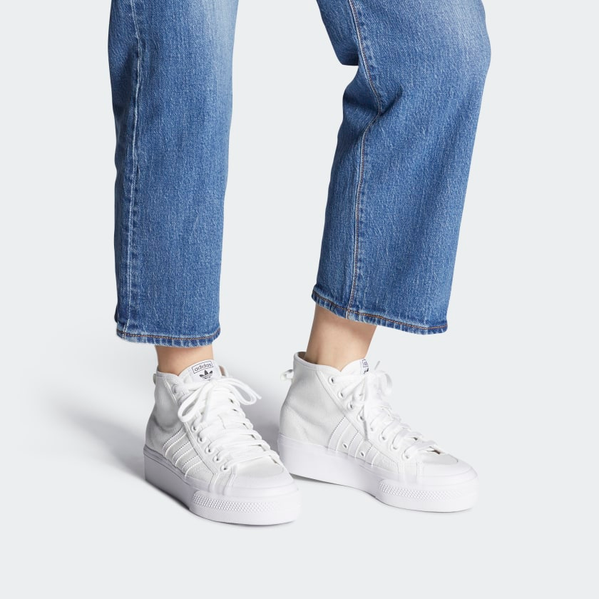 adidas Nizza Platform Mid Shoes - White