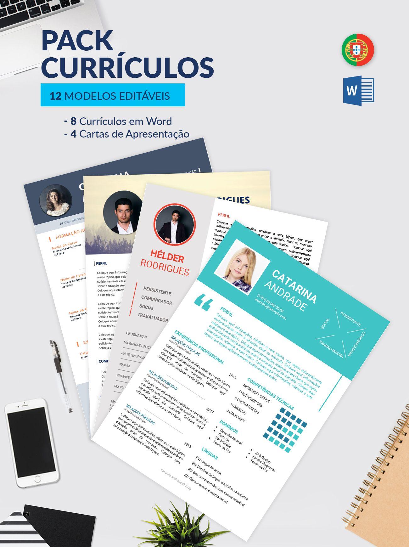 Modelos De Curriculos E De Cartas De Apresentacao Editaveis Em