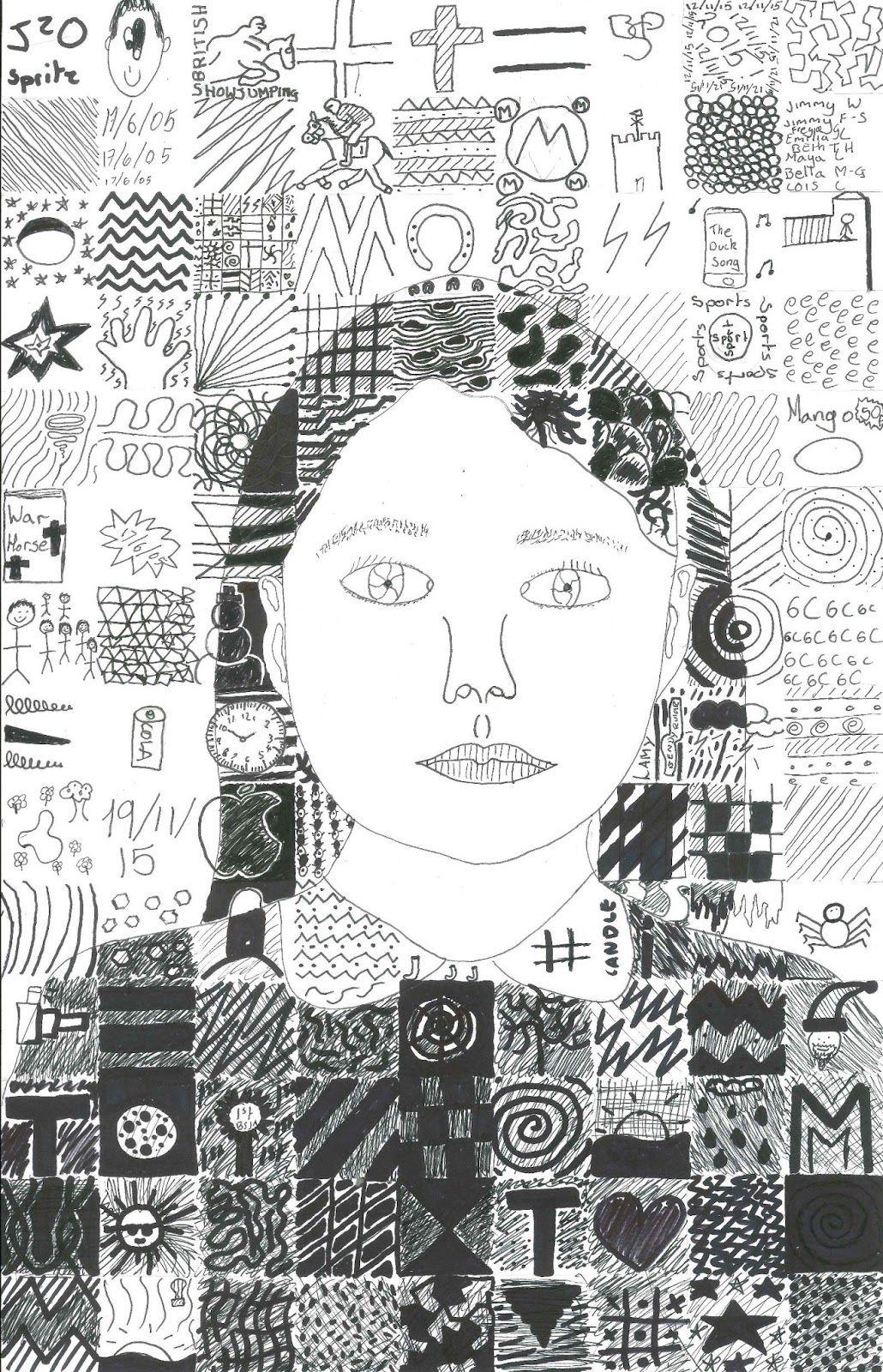 Chuck Close Inspired Self Portrait Year 6 Ks2