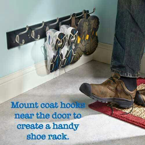 Great Way To Keep Shoes By The Back Door Organization Shoe Storage Shoe Organizer
