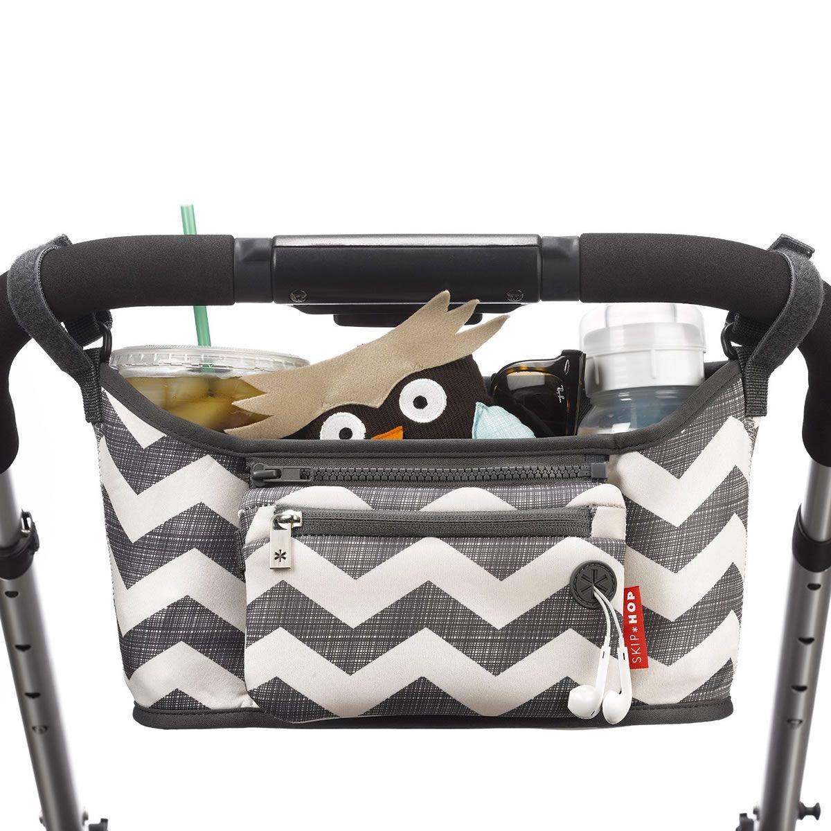 Skip Hop Grab /& Go Universal Pushchair Pram Stroller Organiser /& Purse CHEVRON