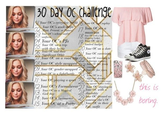 """""""Day 26: Ally Holocomb"""" by fabulously-awesome7 ❤ liked on Polyvore featuring Frame, Converse, NAKAMOL, J.Crew, Monsoon and Casetify"""