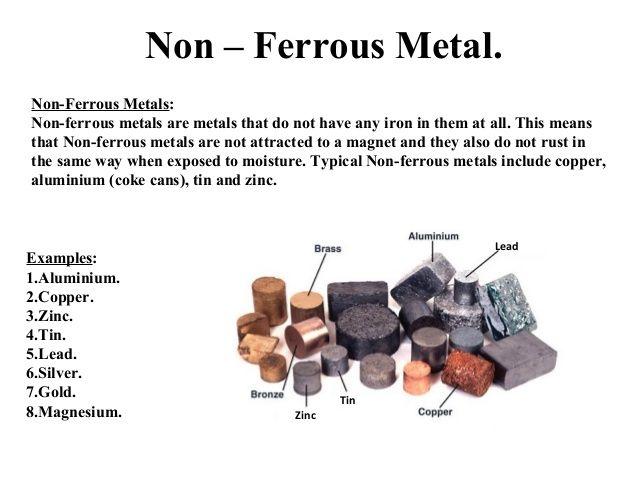 Non – Ferrous Metal Non Ferrous Metals Non Ferrous