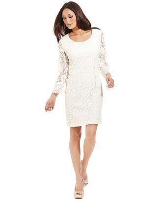 Style Dress Long Sleeve Lace Sheath Womens Dresses