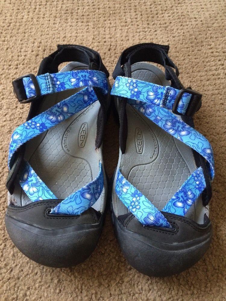 b1ea4b308164 KEEN Zerraport White Blue Flower Waterproof Sandals Rare Women s US 8  KEEN   SportSandals  WalkingHiking