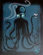 Martini octopus by El Gato Gomez