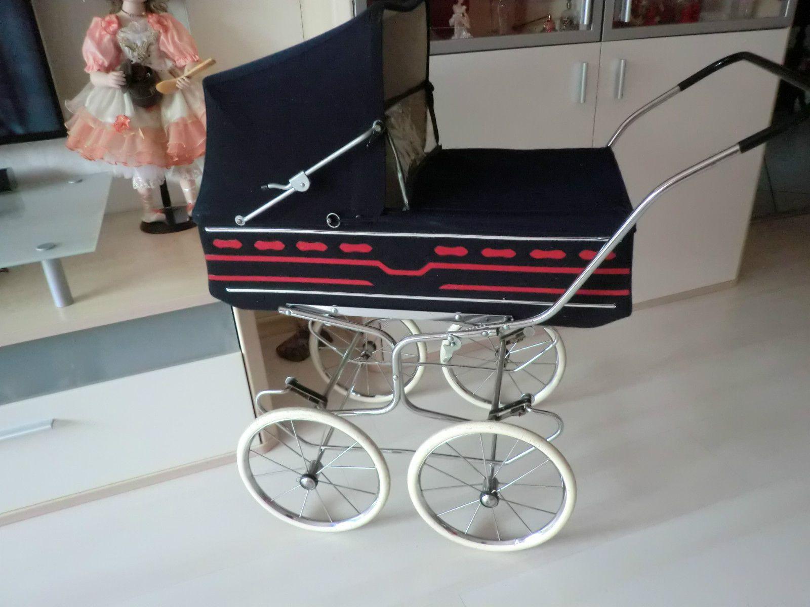 Dolls prams · Puppenwagen 70er 60er blau Modell Vintage Nostalgie Antik Kinderwagen