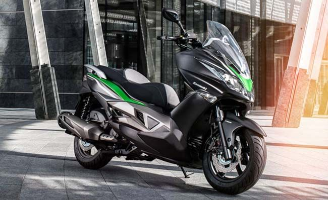 kawasaki announced its all new small displacement maxi-scooter