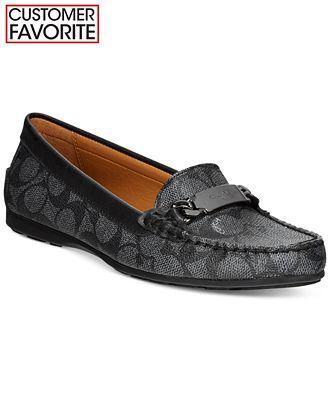 486b38045cf COACH Olive Loafer Flats - Shoes - Macy s