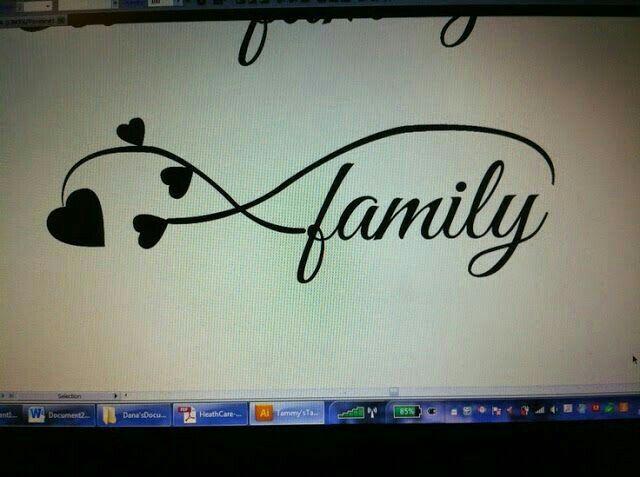 Family Familia Infinito Con Corazones Tattoos Family Tattoos