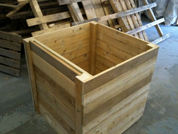 Prototype Compost Bin Made From 100 Reused Wood Waste Waste