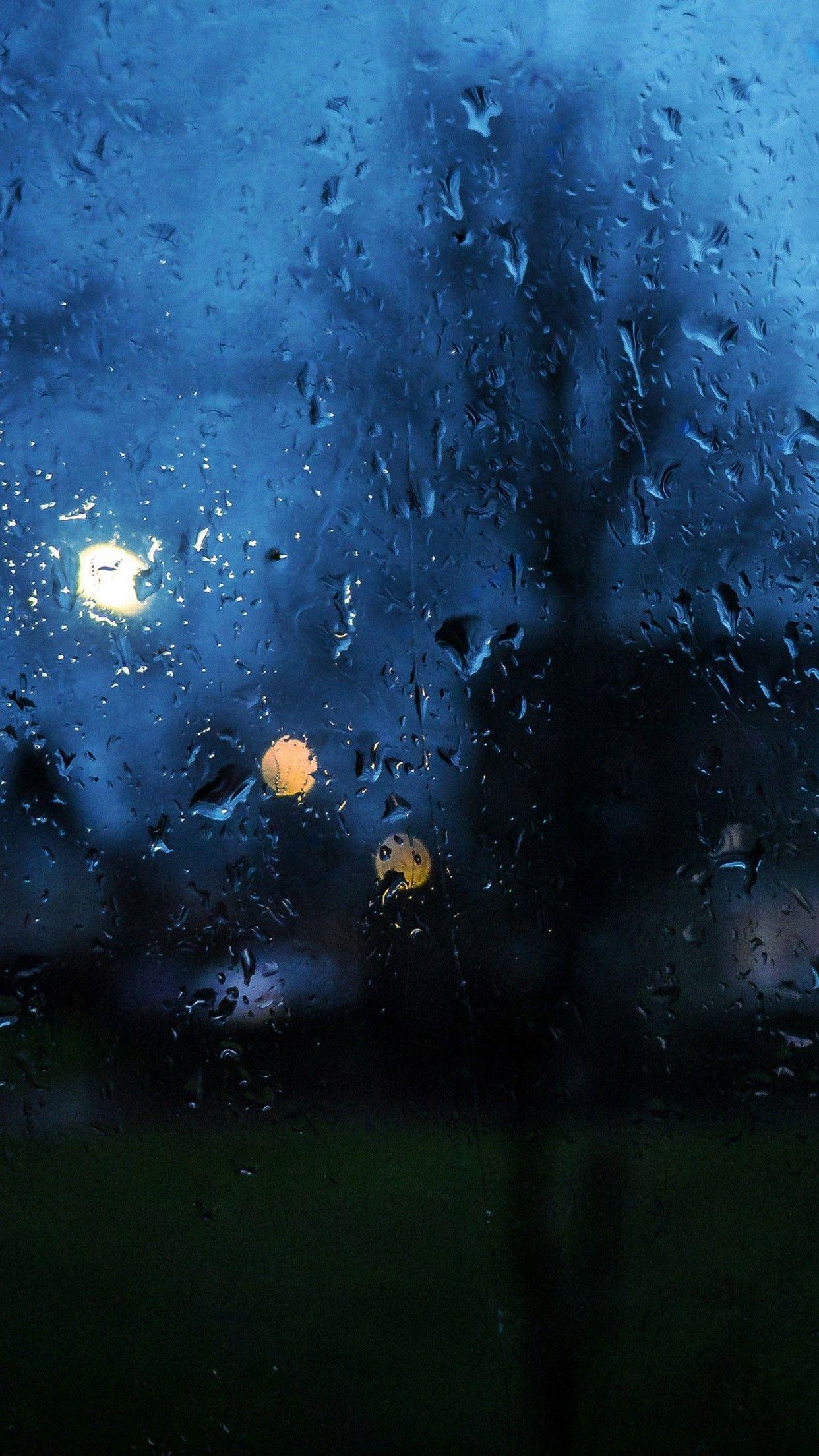 Rainy Day Window Bokeh Smartphone Wallpaper and Lockscreen