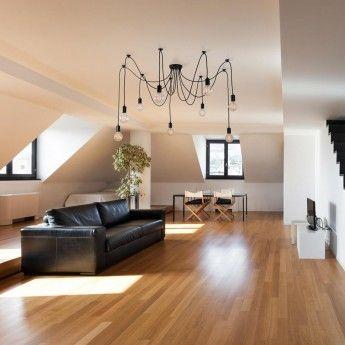 Suspension SPIDER LAMP – 9 Globes – Noir – FilamentStyle