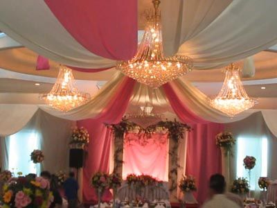 Ceiling decor for a wedding reception weddings ceiling decor power to personalize your wedding decor idea ceiling draping junglespirit Choice Image