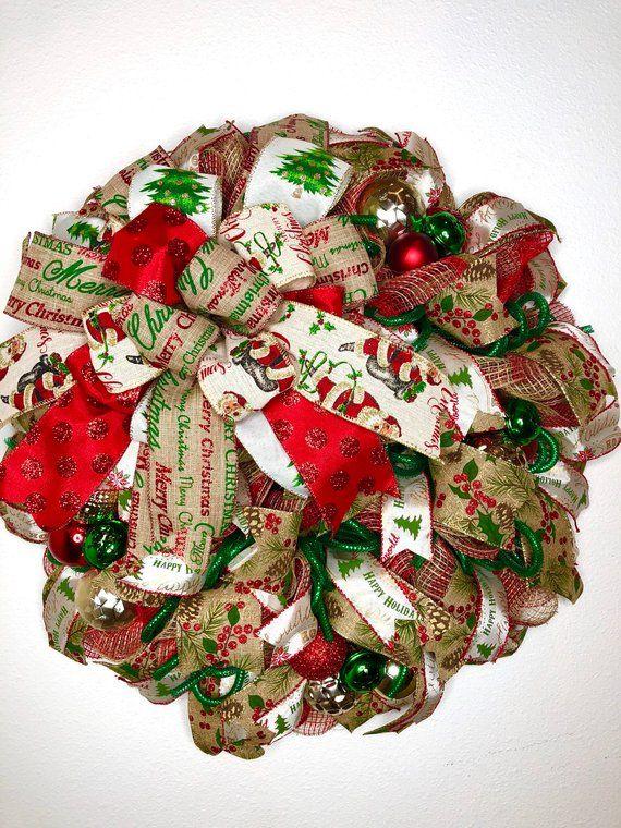 rustic christmas wreath farmhouse xmas wreath christmas door decor small christmas wreath