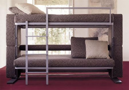 A Sofa That Converts Into Bunk Beds Awesome Cool Stuff