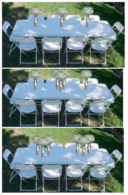 How To Put The Arrangements On 8 Ft Banquet Table Dinner Party Table Wedding Table Settings Wedding Forums