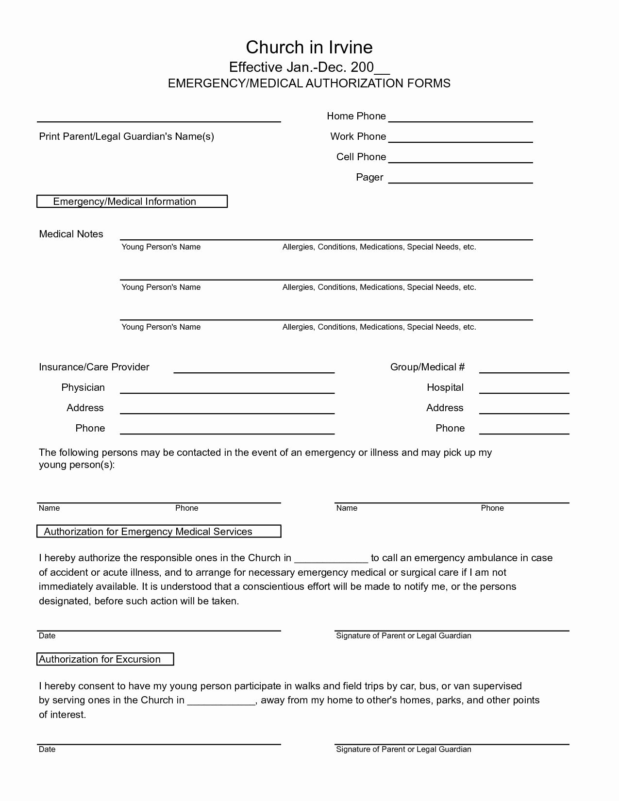 Medical Record forms Template Unique 7 Best Of Free