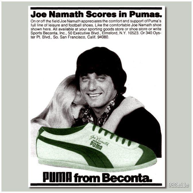 Puma Joe Namath on Flickr. | Joe namath, Vintage ads