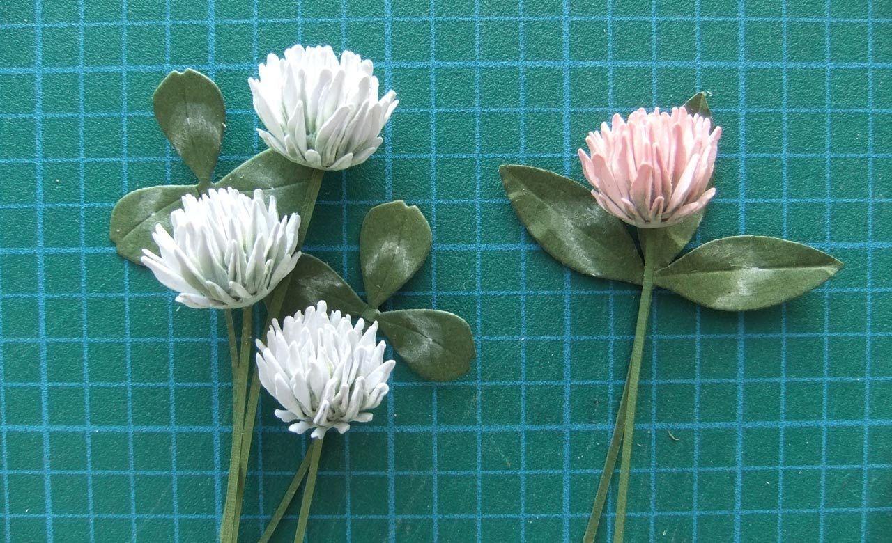 Paper Clover Flower Tutorial Paper Flowers Paper Flowers Diy Paper Flower Tutorial