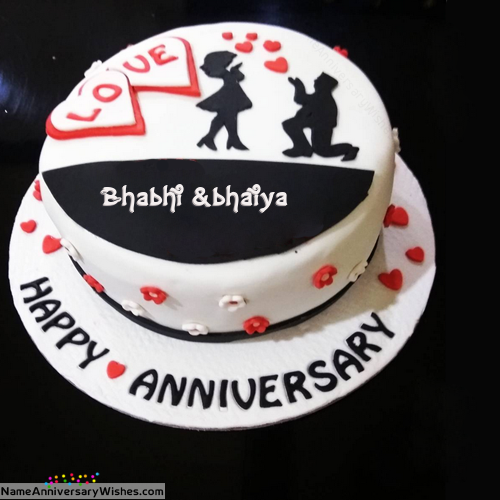 Pin on Anniversary cake with name