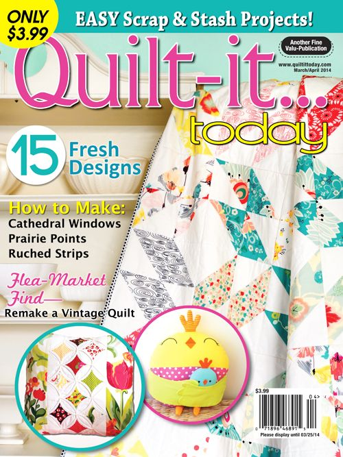 Quilt-it...today Magazine March/April 2014 issue, on sale January ... : quilting today magazine - Adamdwight.com