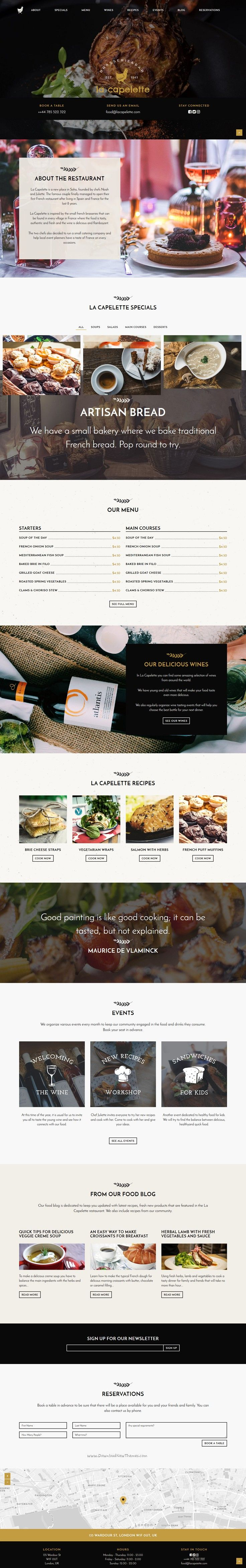 La Capelette is simple yet stylish and unique Bootstrap template