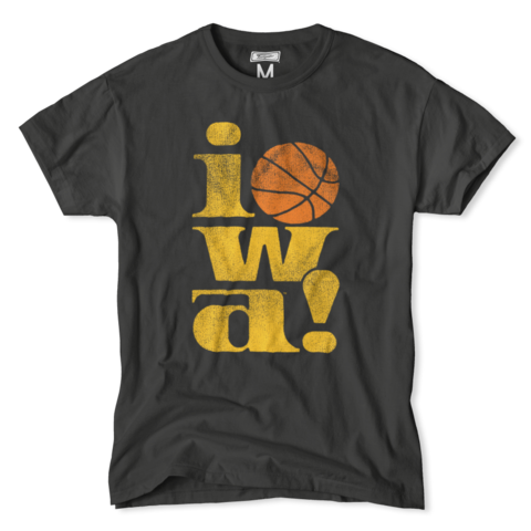 056e33ae76c iowa Hawkeyes Vintage Basketball T-Shirt.