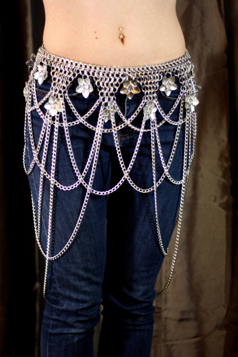 Exquisite+Chainmail+Drape+Flower+Belt+by+UtopiaArmoury+on+Etsy,+$135.00