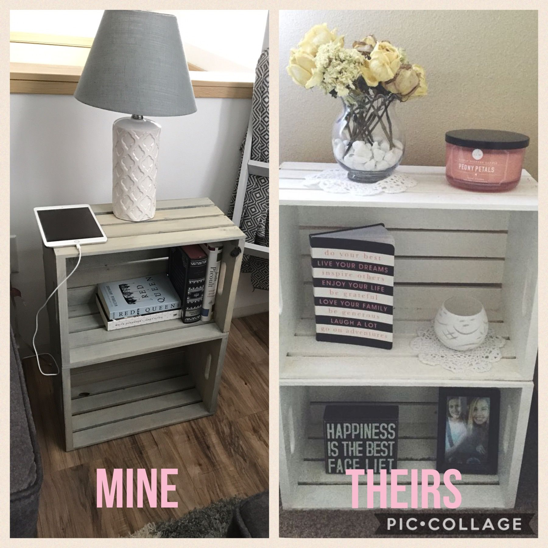 Crate End Table Crate Side Table Bedroom Diy