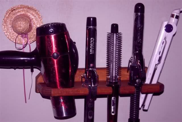 hair dryer, straightener,and curler holder