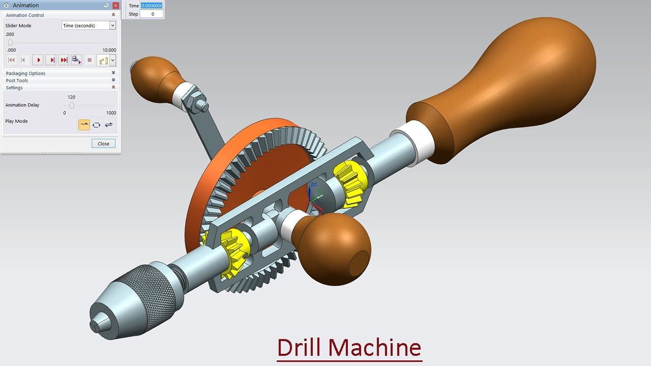 Drill Machine - Motion Simulation (Video Tutorial)--Siemens NX