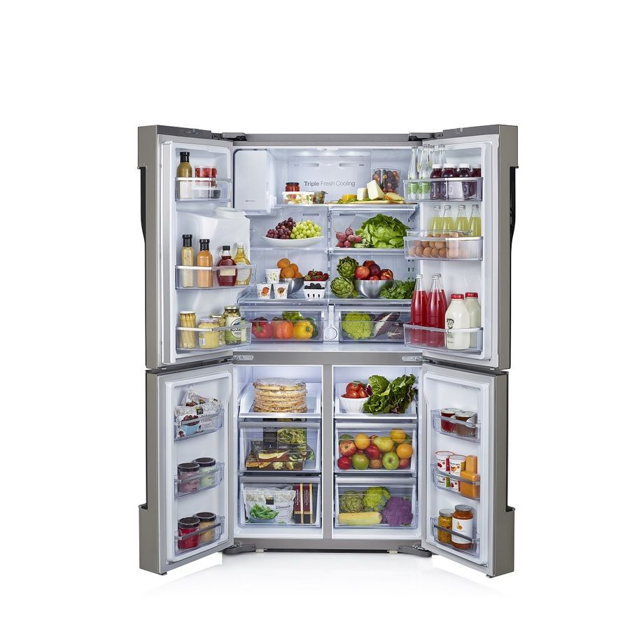 Shop Samsung 304 Cu Ft 4 Door French Door Refrigerator With Single