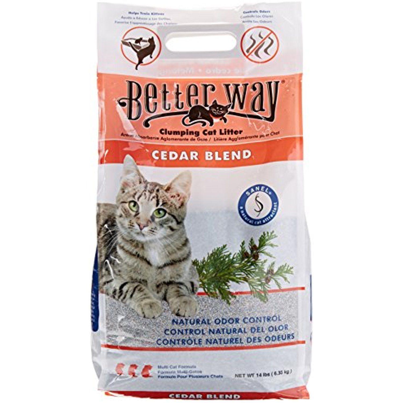 Better Way Cedar Formula Clumping Bentonite Cat Litter With Sanel Cat Attractant 14 Lbs You Can Get Additional Deta Cat Liter Clumping Cat Litter Cat Litter