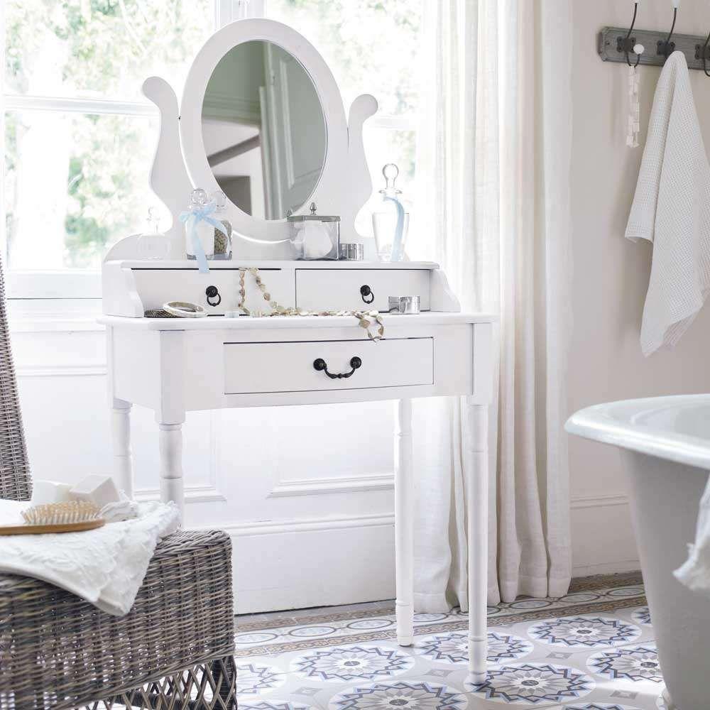 salle de bains blanche anglais retro maisons du monde