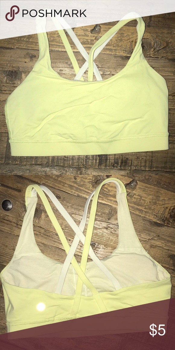 c97a389c7f Yellow Lulu Lemon Sports Bra Slightly used