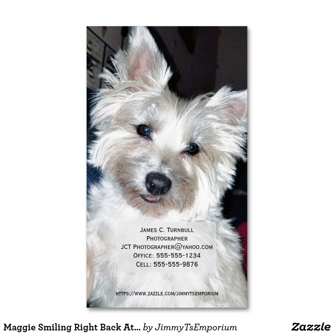 Maggie Smiling Right Back At You Business Cards By Jimmy T S
