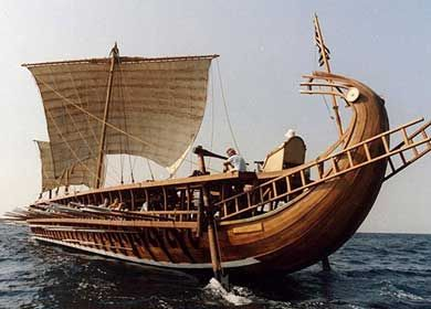 The ancient Greek warship known as a trireme was instrumental in helping the Greeks defeat the Persians in the Battle of Salamis in 480 BCE. Though images of the trireme appear on painted vases and carved reliefs, archaeologists have never found actual remains of this iconic ship