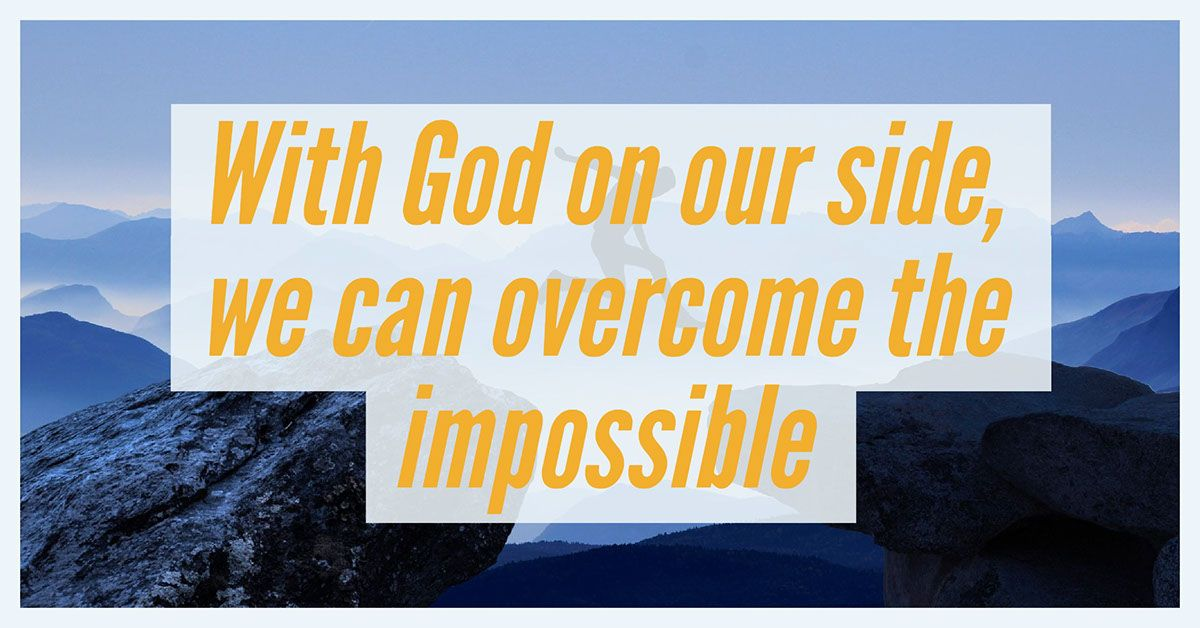 Lord, we're so glad you are with us through our challenges! We know that with you, we can do all things! AMEN! <3