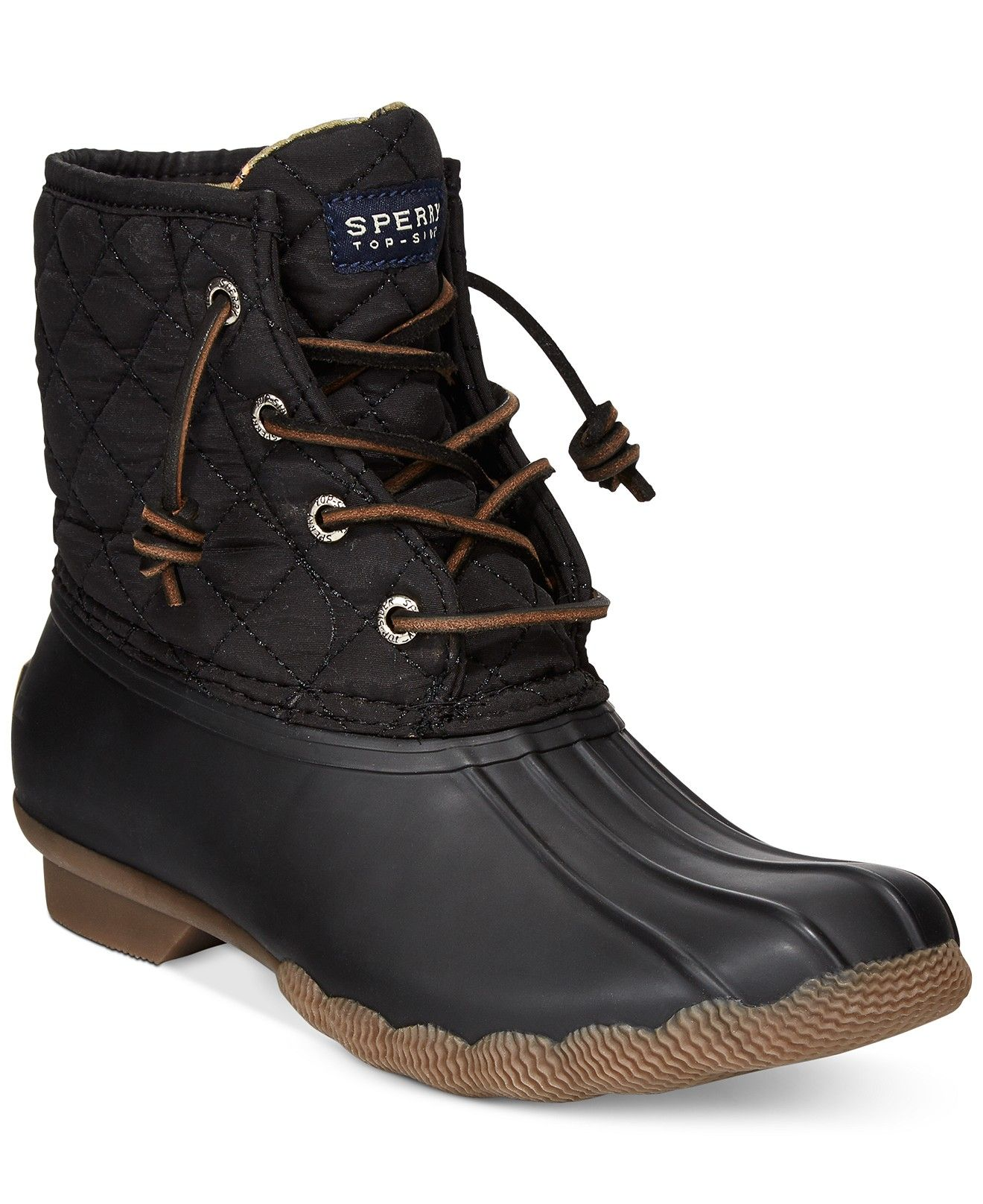 3afcdadc719 Sperry Women's Saltwater Duck Booties - Boots - Shoes - Macy's | My ...