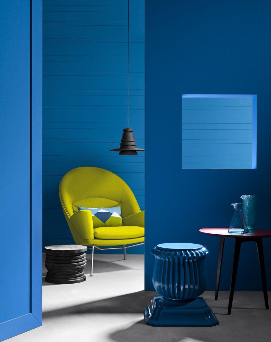 Oculus blue style colour architecture for Case colorate interni