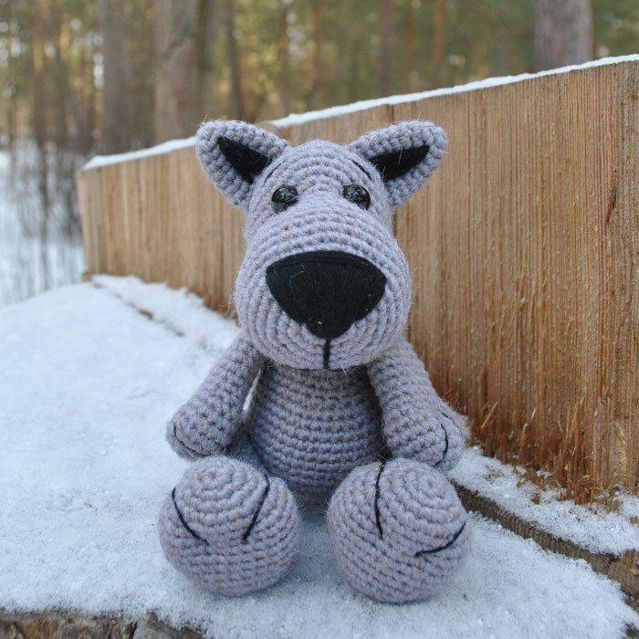 Crochet lobo libre amigurumi patrón