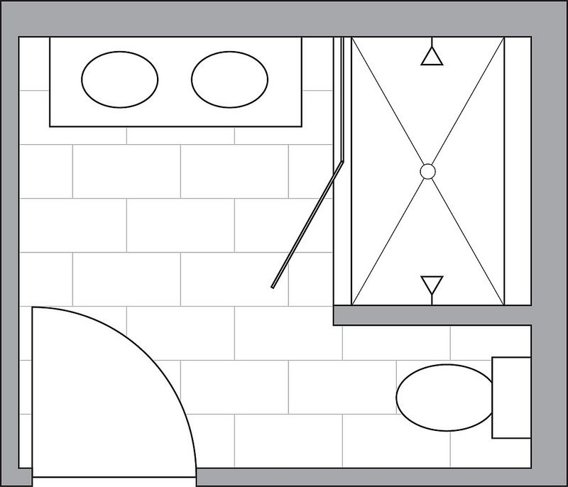 Bathroom Renovation Double Sink Small Bathroom Small Bathroom Floor Plans Small Bathroom Layout