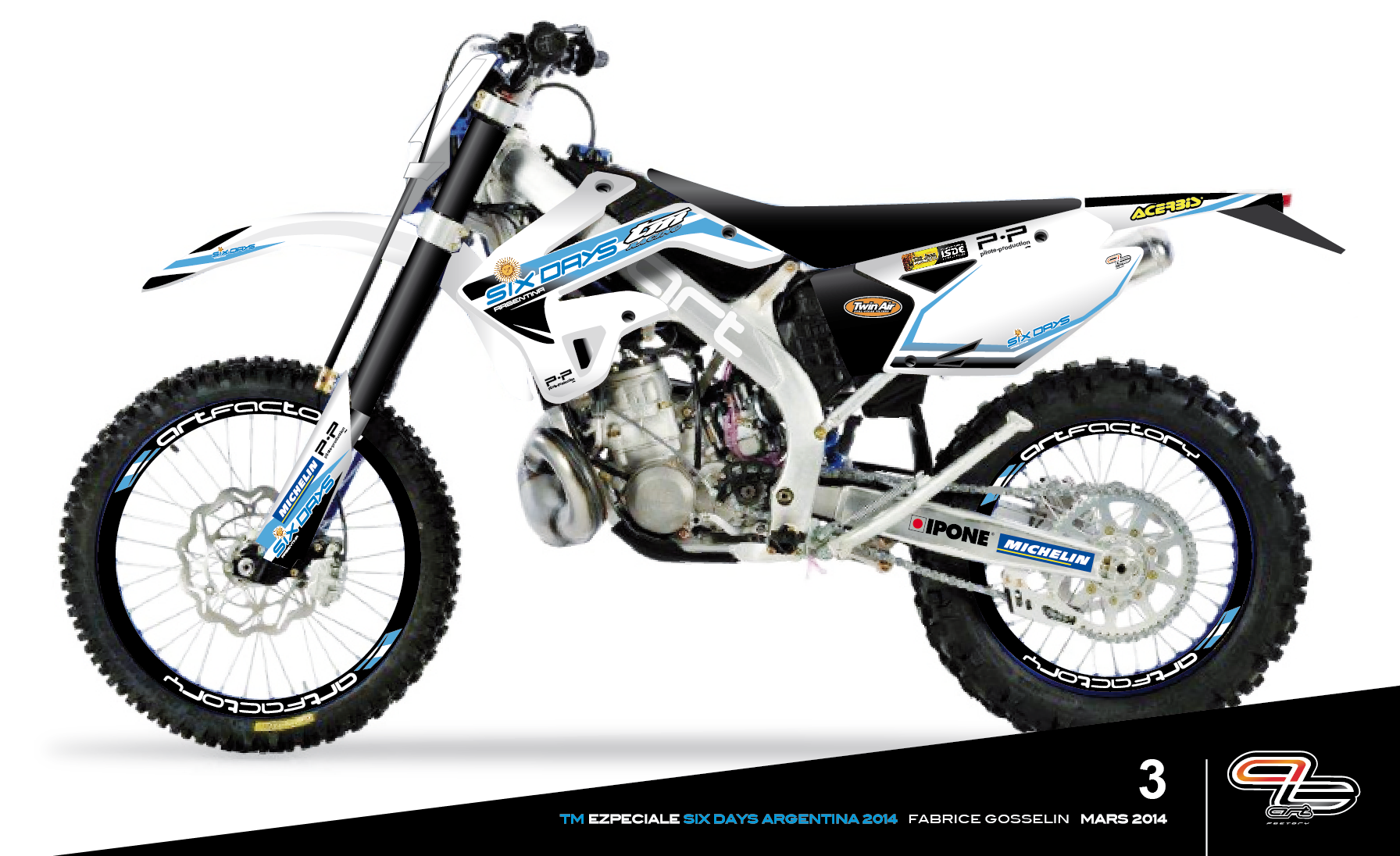 Tm Dirt Bikes >> Tm 300 Fabrice Gosselin Moto Custom Mx Bikes Bike